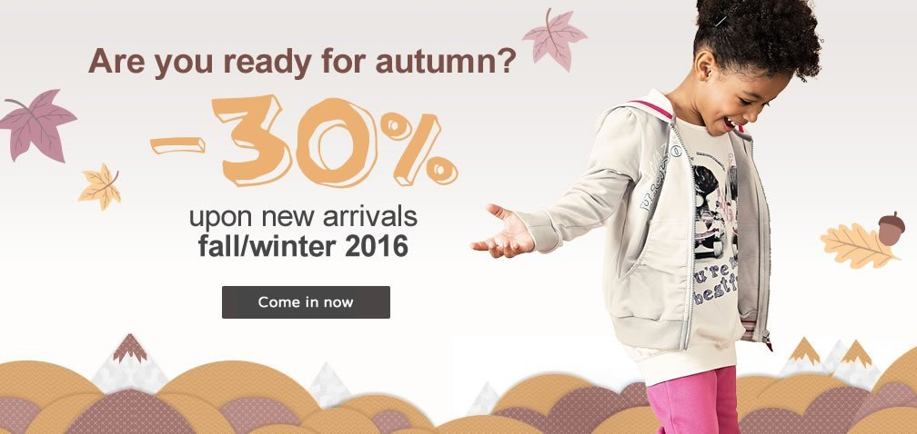 -30% upon new arrivals fall/winter 2016